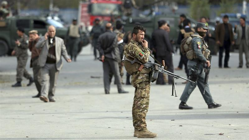 The strength of embattled Afghan defence forces has declined to its lowest level in four years [Massoud Hossaini/AP]