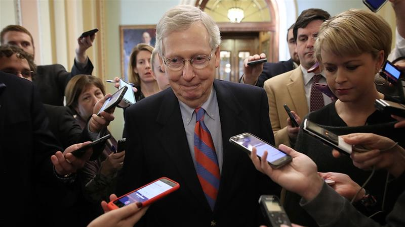 Mitch McConnell calls bill for Election Day holiday a 'power grab'