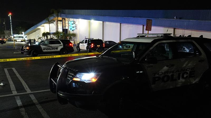 Police said they were searching for a suspect or suspects [Torrance Daily Breeze via Getty Images]