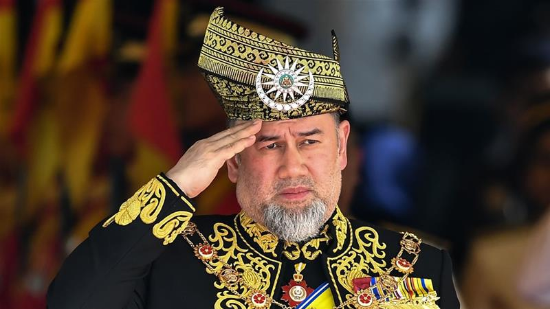 The 15th king of Malaysia, Sultan Muhammad V, abdicated on Sunday [File: Mohd Rasfan/AFP]