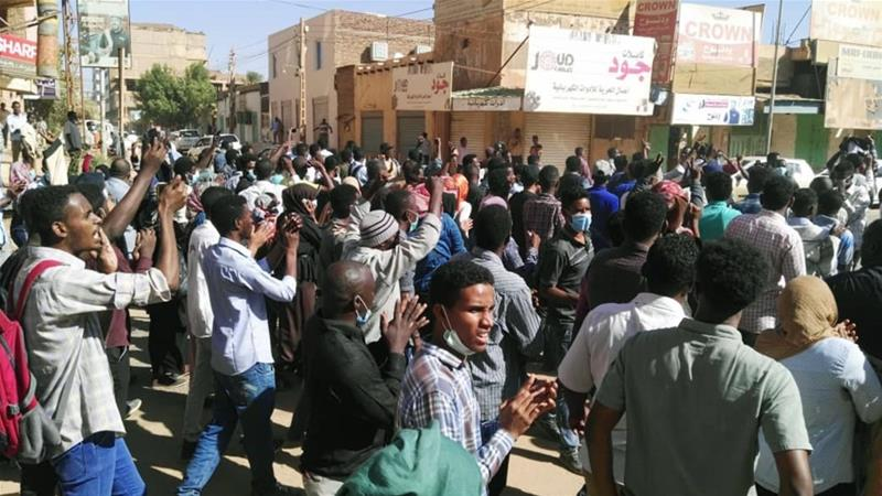 A wave of protests across Sudan began in the northeastern city of Atbara on December 19 [AFP]