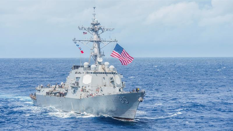 The South China Sea is one of a growing number of flashpoints in the US-China relationship [File: US Navy Handout/Reuters]