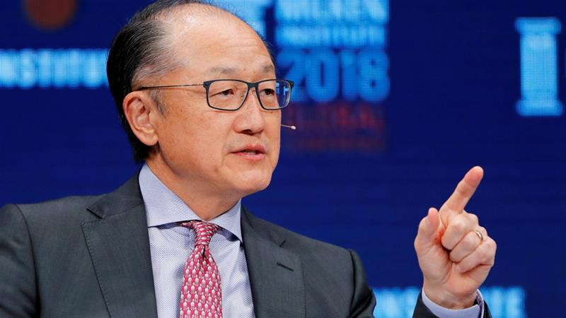Jim Yong Kim resigns more than three years before expiry of term [File: Mike Blake/Reuters]