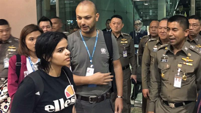 Rahaf Alqunun's flight comes as Riyadh is facing intense scrutiny over the killing of journalist Jamal Khashoggi [AP]