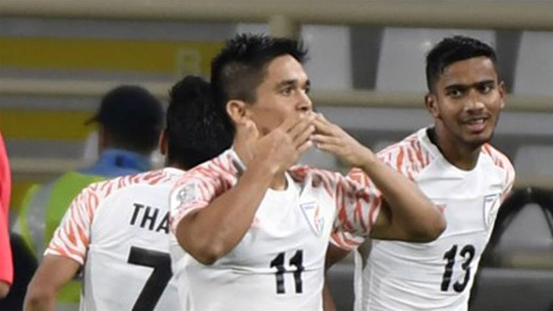 India's 4-1 win against Thailand marked the country's first Asian Cup win since 1964 [Khaled Desouki/AFP]