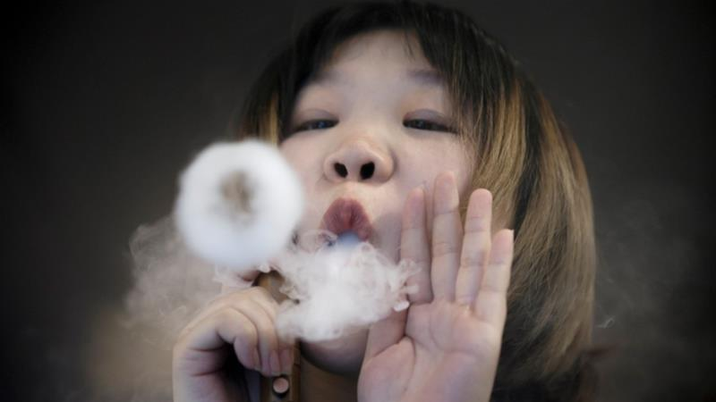 E-cigarette production in China previously boomed due to the popularity of e-cigarette firm Juul in the US, which prompted investments to flow into similar Chinese startups [File: Thomas Peter/Reuters]