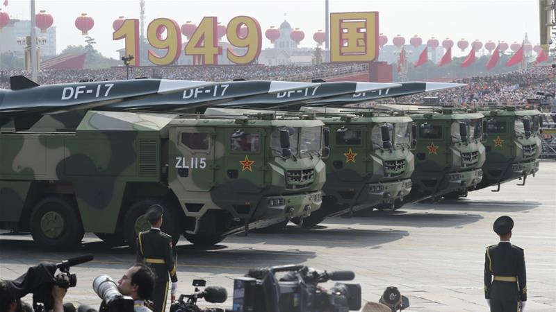 China displays new hypersonic nuclear missile on 70th anniversary ...