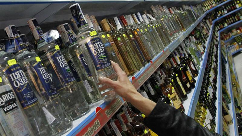 Russian alcohol consumption down 40%