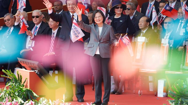Taiwan's Tsai vows to defend island, lambasts China