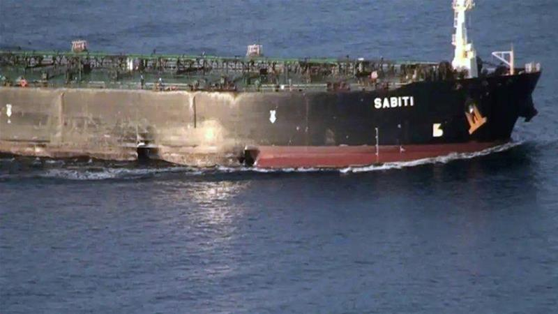 Damage is seen on Iranian-owned oil tanker after an attack on October 13 [National Iranian Oil Tanker Company via West Asia News Agency]