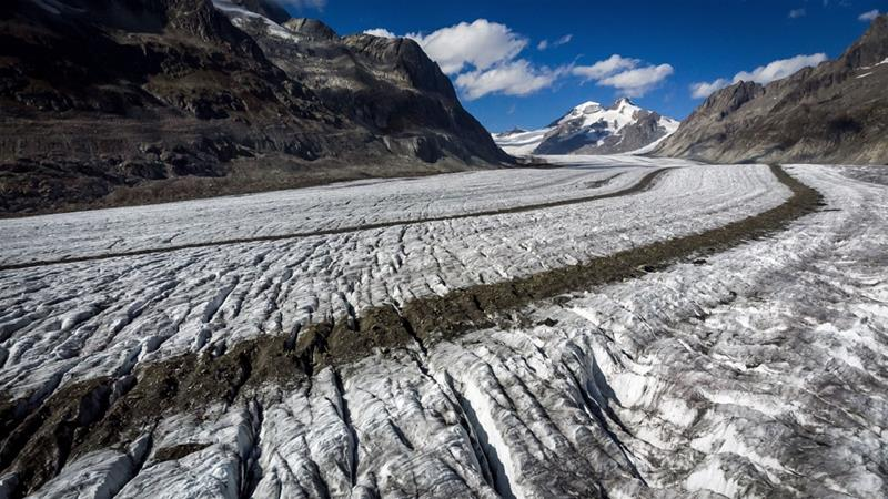In April and May, snow cover on Switzerland's glaciers was between 20 and 40 percent higher than usual, the study said [File: Fabrice Coffrini/AFP]