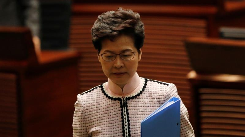 Hong Kong Chief Executive Carrie Lam announced policies aimed at making housing more affordable and easing living costs, issues that have fuelled months of protests [Kim Kyung-Hoon/Reuters]