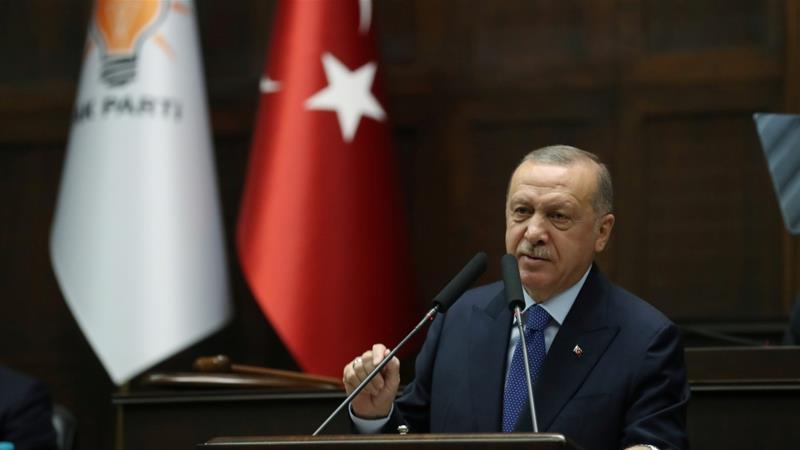 Erdogan defied demands for a ceasefire [Mustafa Kamaci/Presidential Press Office/Handout via Reuters]