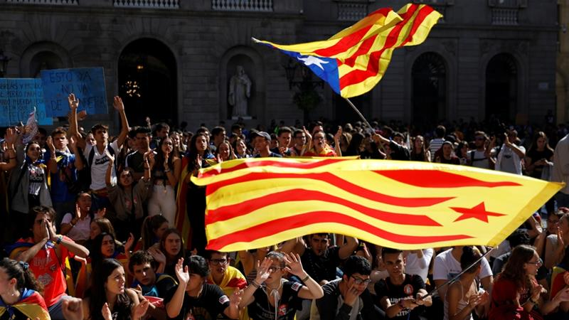 Catalan leader calls for independence vote as protests continue