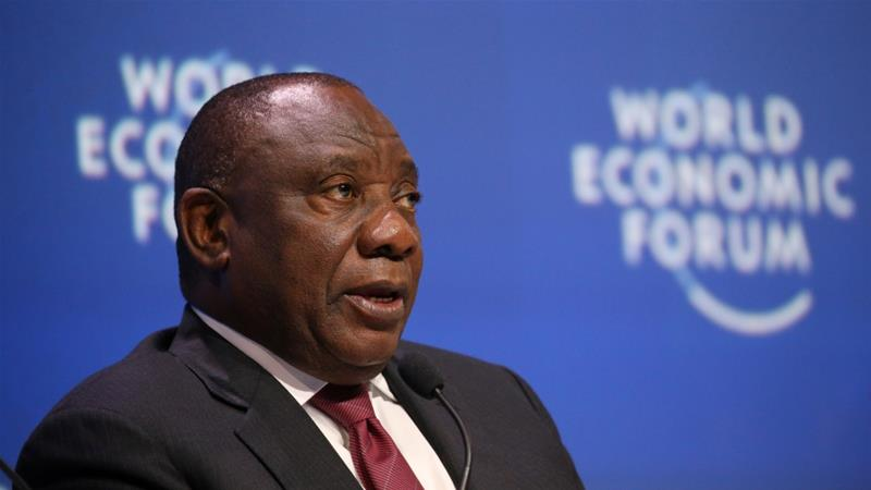 South Africa's President Cyril Ramaphosa has battled deteriorating economic conditions and corruption allegations [Sumaya Hisham/Reuters]