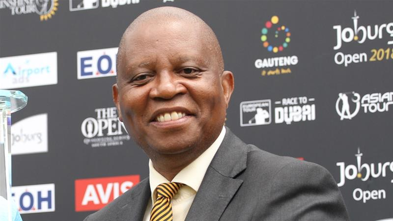 Mashaba was elected into office in 2016 becoming the city's first mayor not from the ruling ANC since apartheid ended in 1994 [Luke Walker/Getty]