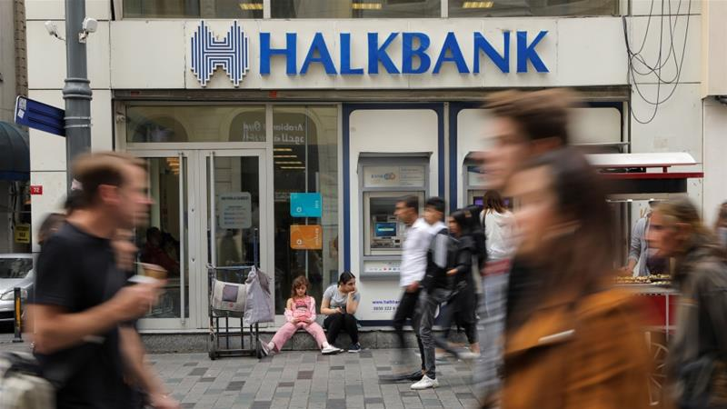 Turkey's Halkbank said it did not engage in sanctions violations as alleged and falls outside of the US Justice Department's jurisdiction since it has no branches or employees in the US [Huseyin Aldemir/Reuters]