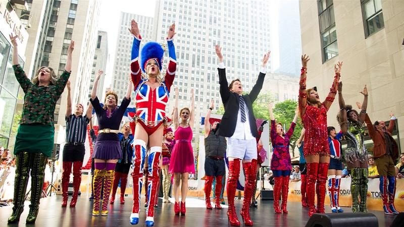"The cast of Broadway's ""Kinky Boots"" performs on NBC's ""Today"" show in New York [File: Charles Sykes/Invision/AP]"