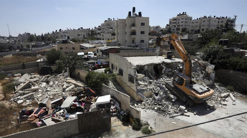 Rights group figures refer to homes demolished because they were built without proper government permits [File: Mahmoud Illean/AP]