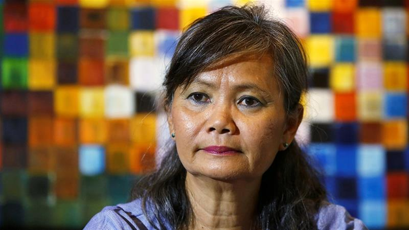 Mu Sochua of the Cambodia National Rescue Party (CNRP) was turned back when she tried to enter Thailand, raising questions about leader Sam Rainsy's plan to return from exile in November. [File: Samrang Pring/Reuters]