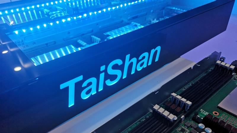 Huawei's newly launched Taishan series of ARM server includes parts made in the UK [File: Sijia Jiang/Reuters]