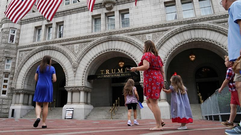The Trump Organization said it is exploring selling its Washington hotel [File: Sarah Silbiger/Reuters]