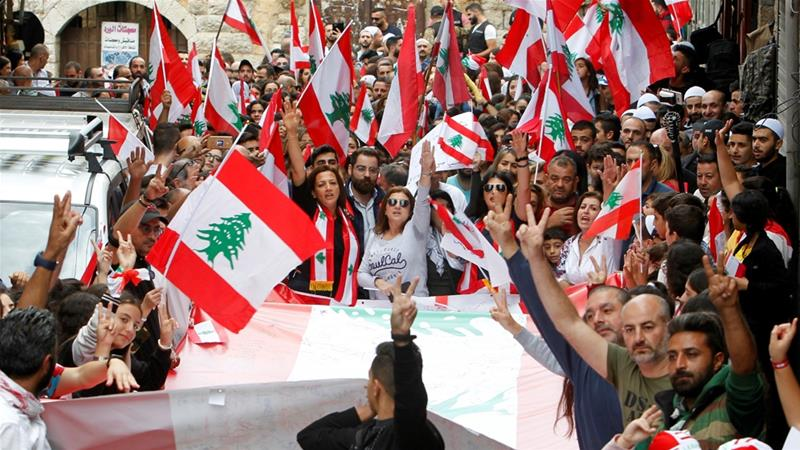 Demonstrators say they will continue anti-government protests in Lebanon [Aziz Taher/Reuters]