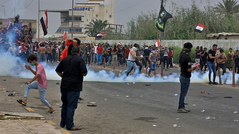 More than 40 people were killed after security forces opened fire on protesters on Friday [Nabil al-Jurani/AP]
