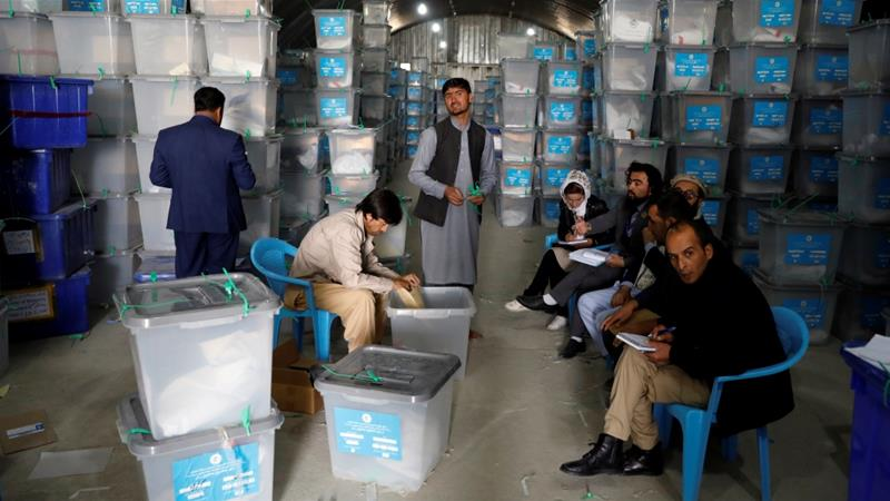 Last month's election saw record low turnout - roughly 26 percent of the more than nine million registered voters cast their ballot [Mohammad Ismail/Reuters]
