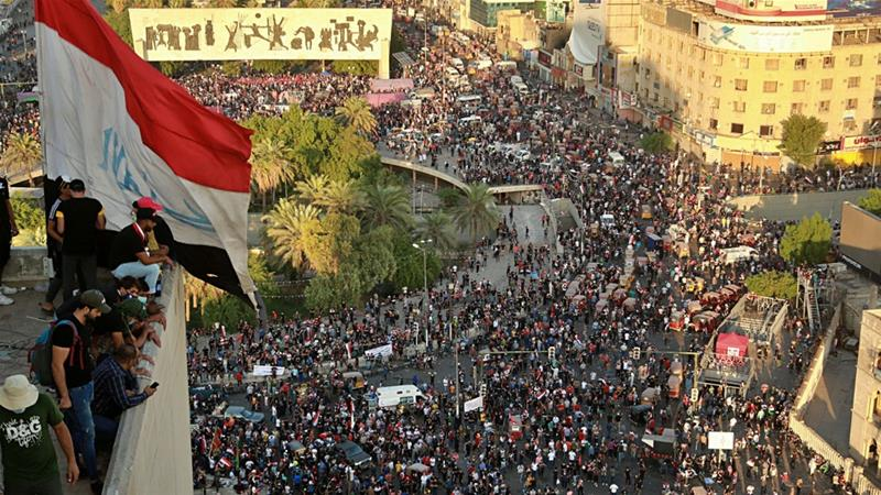 Hundreds continue protests in Baghdad as death toll tops 60