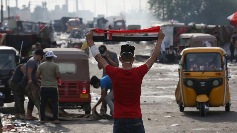 Iraqi students join thousands in ongoing anti-gov't protests