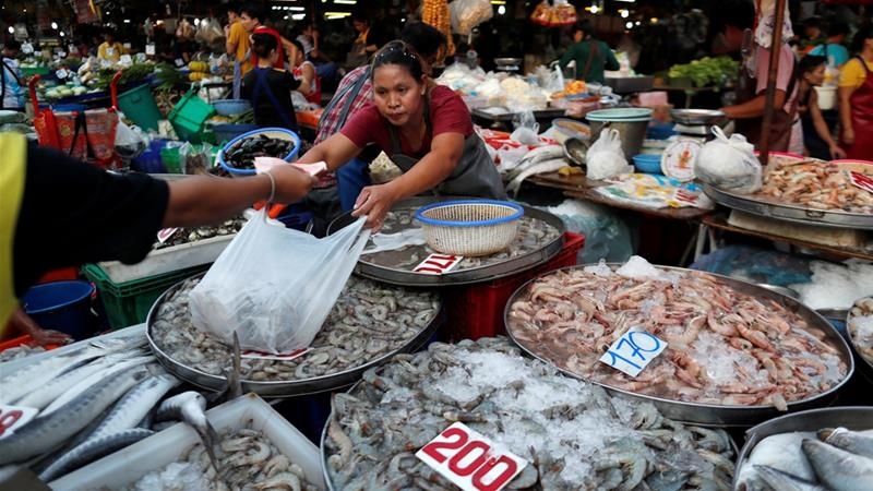 A range of Thai exports, including seafood, are subject to the trade privileges [File: Soe Zeya Tun/Reuters]