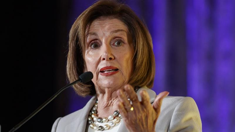 House Speaker Nancy Pelosi said the House will vote on impeachment inquiry this week [File:Alex Brandon/The Associated Press]