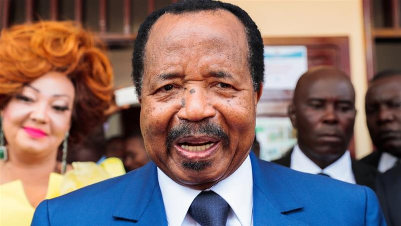 Biya faces what has become a major threat to his nearly 40-year rule [Jean Pierre Kepseu/Anadolu]