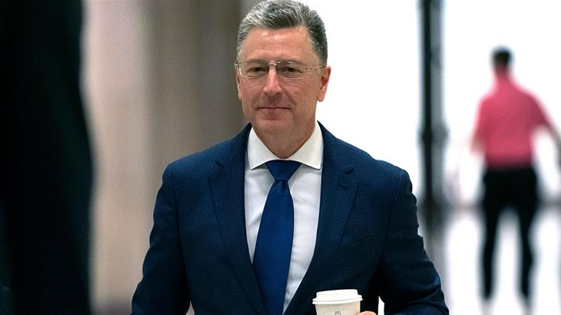 Kurt Volker, a former special envoy to Ukraine, arrives for a closed-door interview with House investigators [Scott Applewhite/AP Photo]