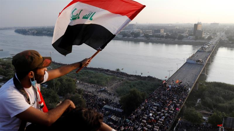 The protests have posed the most significant challenge yet to Iraqi Prime Minister Adel Abdul Mahdi's year-old government [Thaier al-Sudani/Iraq]