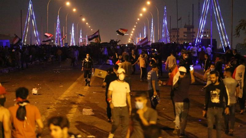 One dead and dozens wounded as Iraqi security forces attack protesters
