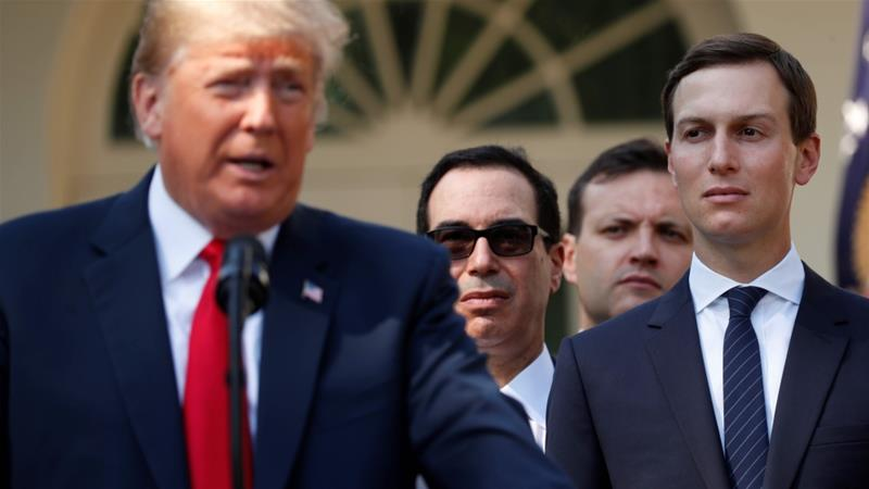New White House senior trade advisor was a key player in creating the economic plan for the Middle East that Trump senior adviser Jared Kushner proposed to try to jumpstart peace process between Israel and the Palestinians at a conference in Bahrain in June [File: Kevin Lamarque/Reuters]
