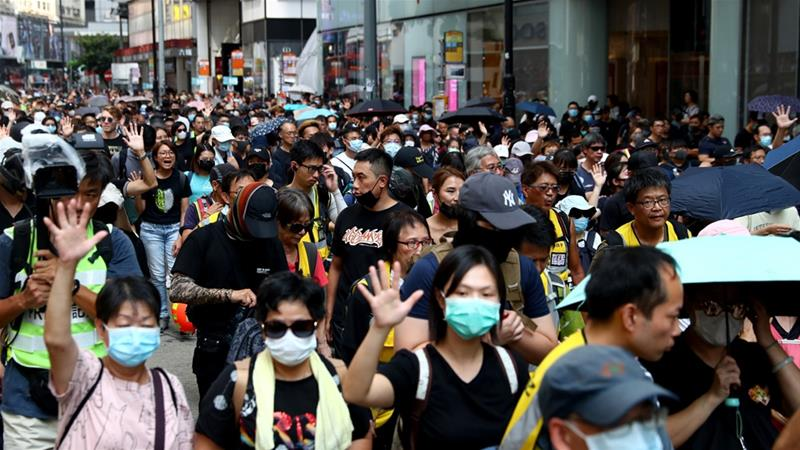 Closed Transit Defy Kong Public Hong Face-mask As Ban Protesters