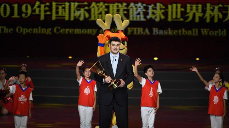 Yao Ming, the former NBA player from China, now runs the Chinese Basketball Association, which has said it will stop working with the Houston Rockets after the team's general manager expressed support for Hong Kong protesters [Greg Baker/Pool/Getty Images]