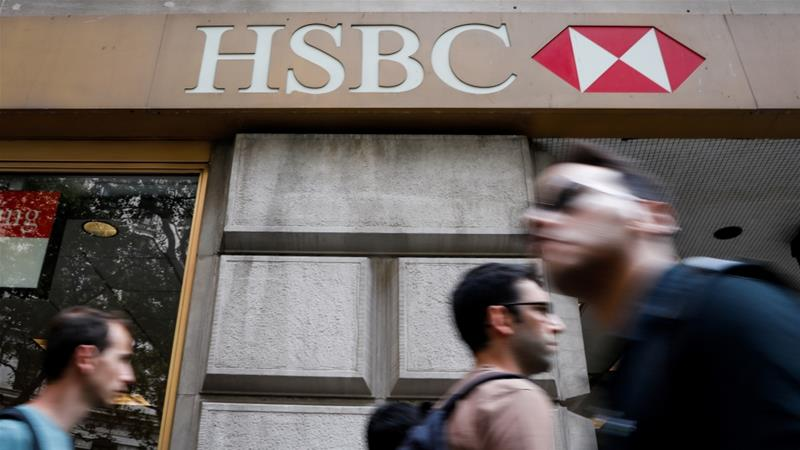 HSBC has increased its expectation of credit losses in Hong Kong, its single largest profit centre, as anti-government protests continue disrupting business [File: Brendan McDermid/Reuters]