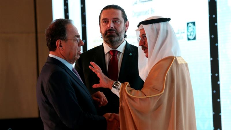 Lebanese officials described Monday's talks as positive while Abu Dhabi stressed its support for Lebanon [Satish Kumar/Reuters]