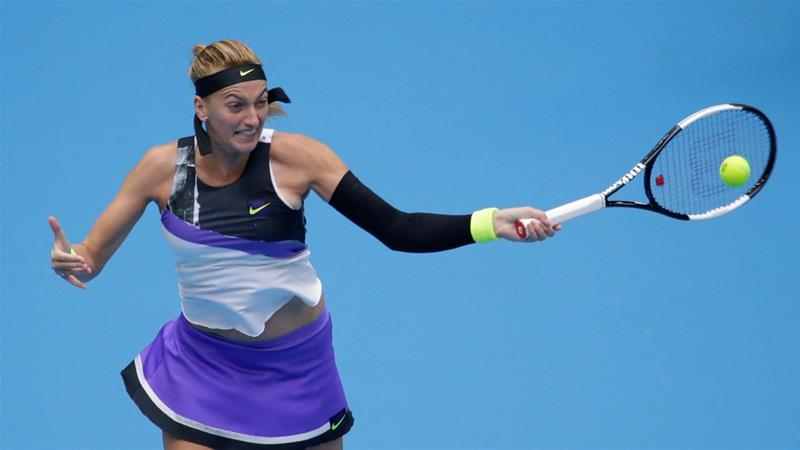 Czech Republic''s Petra Kvitova in action against Ashleigh Barty of Australia [Jason Lee/Reuters]