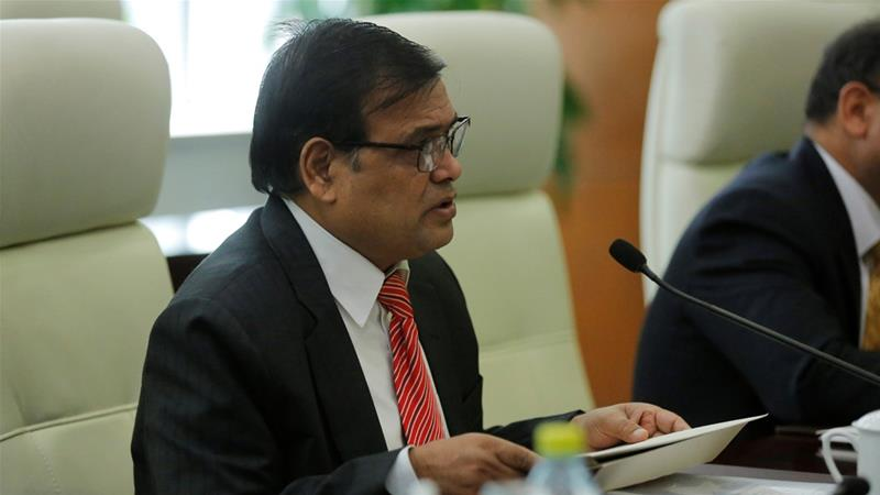 Mahara denied allegations of rape, but stepped down as speaker last week [Wu Hong/Reuters]