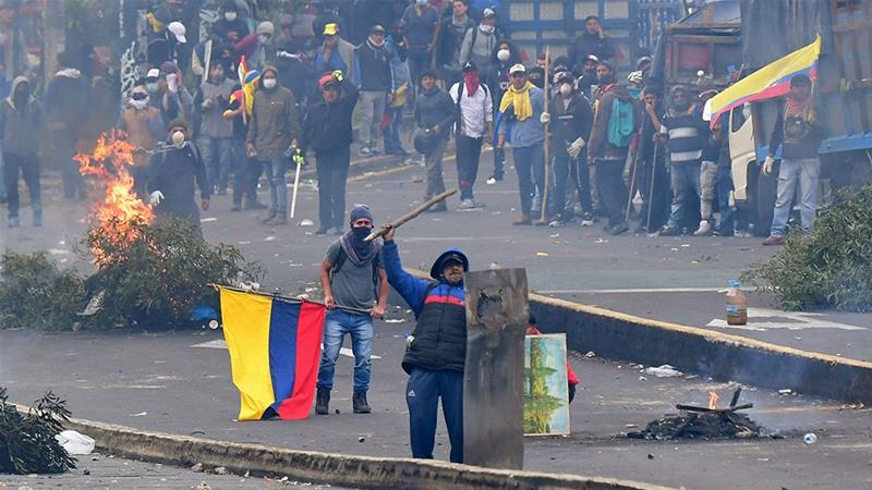 Ecuador unrest: Protests erupt for 6th day over fuel subsidy cuts
