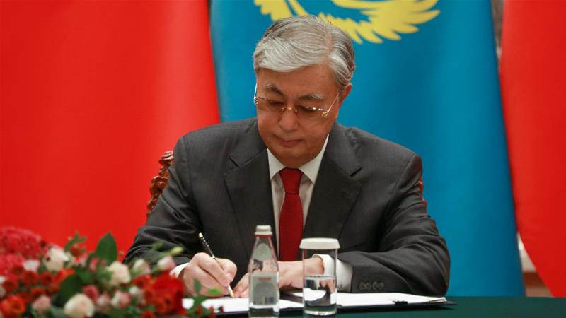 Kazakh President Kassym-Jomart Tokayev has asked anti-corruption agents to step up their investigations [Andrea Verdelli/Pool/Reuters]