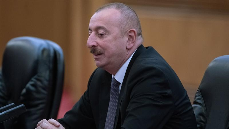 Ilham Aliyev has ruled the Caspian state with an iron fist since he was first elected in 2003 [File: Fred Dufour/Getty Images]