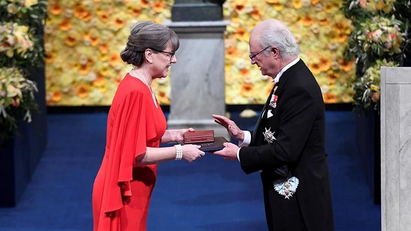 In 2018, Donna Strickland became one of only three women to ever have been awarded the Nobel Prize in physics [File: TT News Agency/Pontus Lundahl via Reuters]