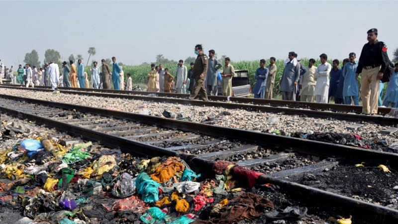 Image result for pakistan train bus accident