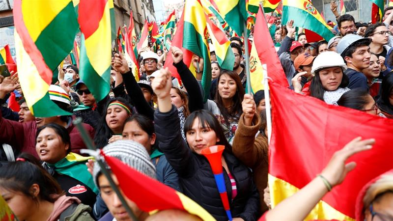 Bolivia military chief says army 'will not confront people'